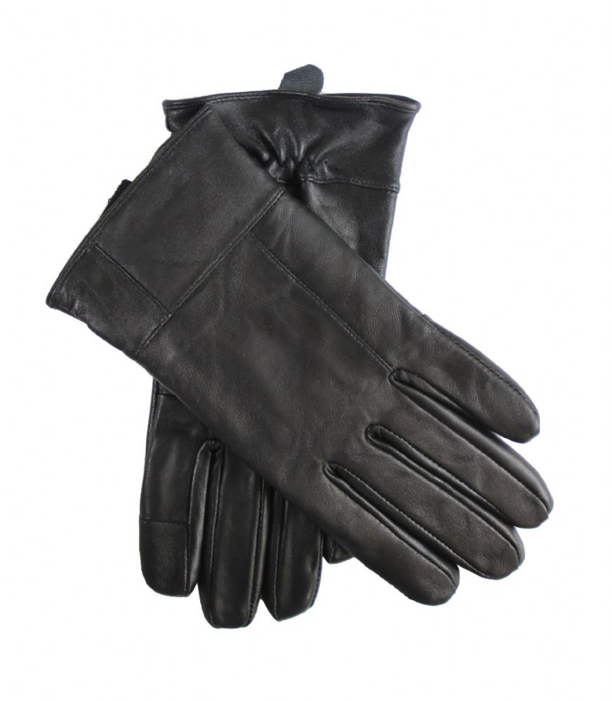 WG6611 Ladies genuine leather black winter driving touch screen gloves